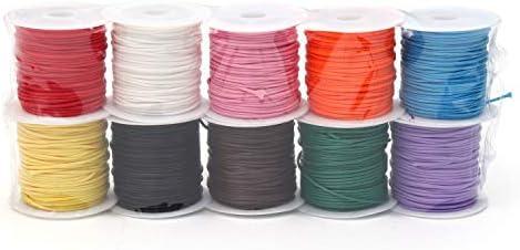 \u00d8 1 mm dark brown 20 m on Plisterkarte waxed cotton cord 0.16 EURmeter