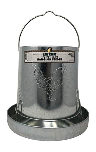 Harris Farms 1000293 Galvanized Hanging Poultry Feeder 15 lbs Metal
