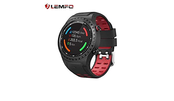 Amazon.com: LEMFO Professional Sport Modes Outdoor Activity Tracker IP67 Waterproof Support GPS SIM Card Smart Watch Men for Android iOS (Red): Electronics