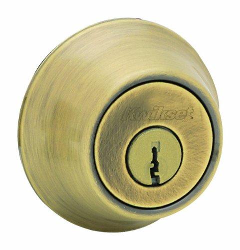 Kwikset 665 Double Cylinder Deadbolt in Antique Brass