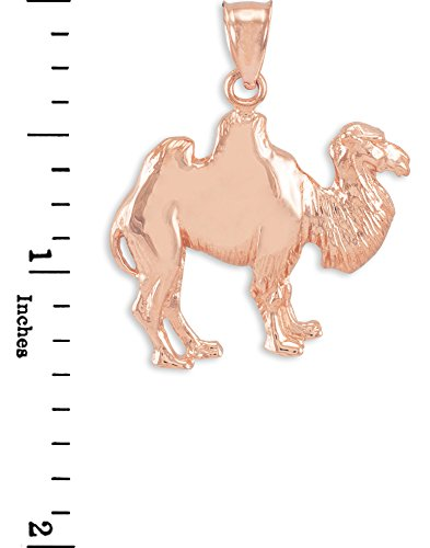 10 ct 471/1000 Or Rose Chameau Pendentif