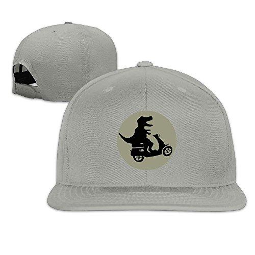T-Rex Riding A Motor On Moon Plain Adjustable Snapback Hats Men's Women's Baseball -