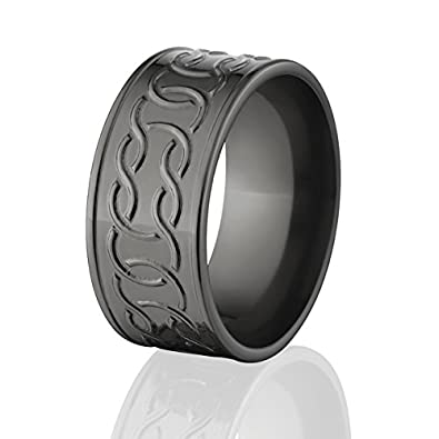 Irish Wedding Rings.Black Zirconium Celtic Ring Wedding Rings For Men Irish Wedding