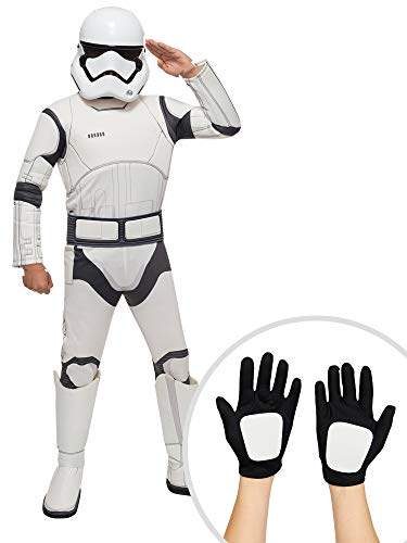 Star Wars Stormtrooper Costume Kit Kids XS Toddler 2T-4T With Clonetrooper Gloves -
