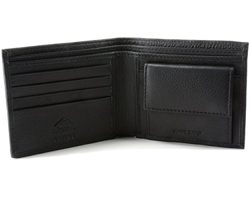 Alpine Swiss Mens Leather Bifold Wallet with Coin Pocket Purse Pouch &...