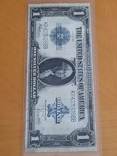 Large Silver Certificate - 1923 $1 SILVER CERTIFICATE LARGE NOTE-DESIRABLE & AFFORDABLE PRE-WAR CURRENCY-VERN'S CARD & COIN $1 F