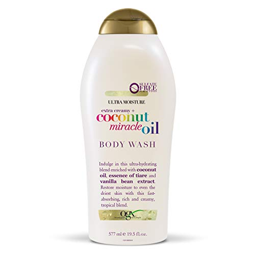 Scented Pacific Body Wash - OGX Extra Creamy + Coconut Miracle Oil Ultra Moisture Body Wash, 19.5 Ounce