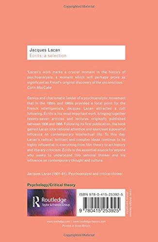 Ecrits: A Selection (Routledge Classics) (Volume 24)