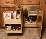 unfinished kitchen corner cabinet - Omega National KitchenMate Blind Corner Caddy