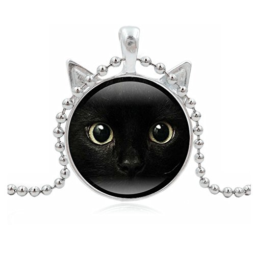 Arwen's Crown Costume (Woman Fashion Jewelry Retro Cute Cat Pendent Necklace for Lover Gift?Sliver?)