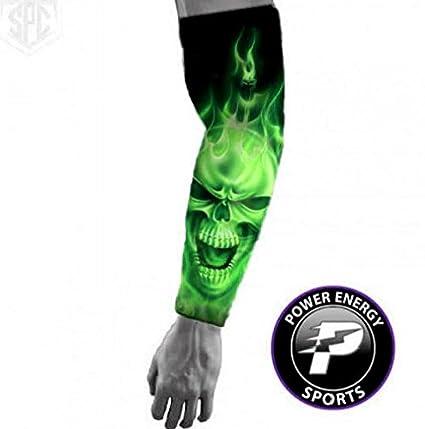 29d970101c Amazon.com : Baseball Sports Compression Arm Sleeve - Green Ghost ...