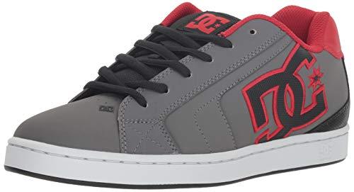 DC Men's NET Skate Shoe, grey/black/grey, 9.5 D M US ()
