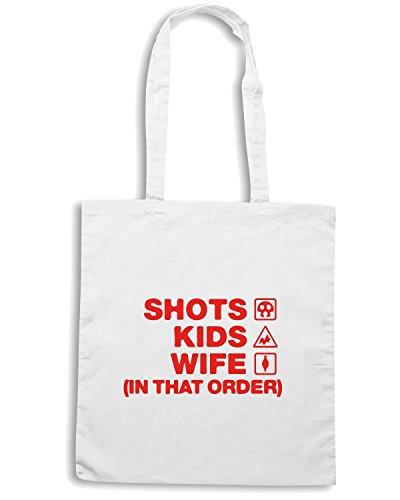 T-Shirtshock - Bolsa para la compra WC1072 shots-kids-wife-order-tshirt design Blanco