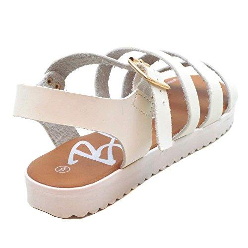 Sandales De Mode Tonio Bleue Pour Femme (taille 6-10) Blanc