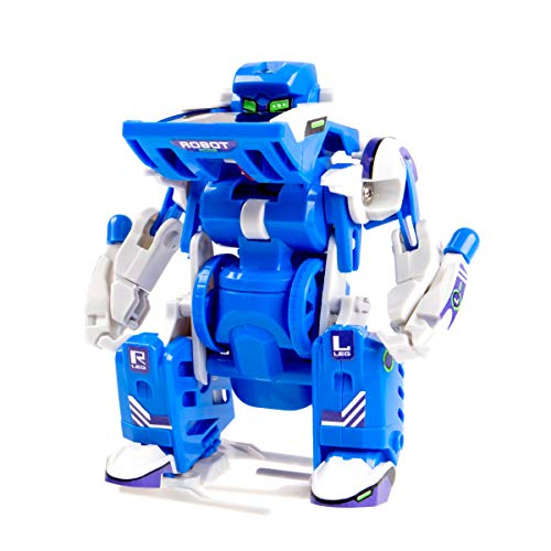 Kids Tech VA90025 DIY Transforming Solar Robot, Includes Mechanical Parts, Stickers, Principal Part Fittings & Solar Module, Robot Mode, Scorpion Mode, and Tank Mode, -