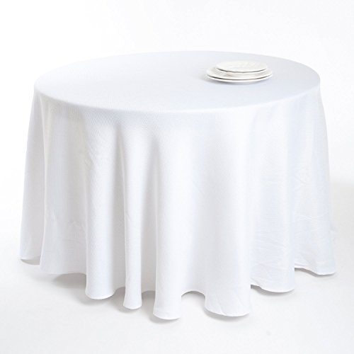 Ellison Basket Weave, Faux Burlap Tablecloth (90