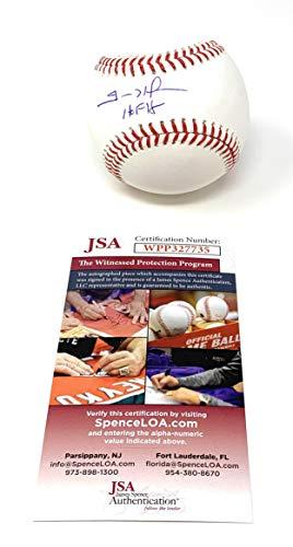 Trevor Hoffman San Diego Padres Signed Autograph Official MLB Baseball HALL OF FAME INSCRIBED JSA Witnessed ()