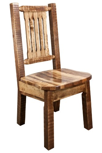 Montana Woodworks MWHCKSCNSL Homestead Collection Dining Side Chair with Ergonomic Wooden Seat, Stain & Lacquer Finish