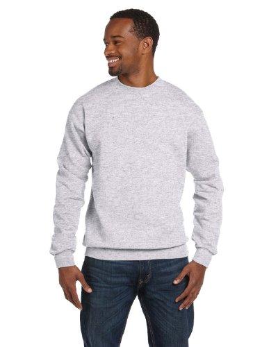 (Hanes Mens Comfortblend EcoSmart Crewneck Sweatshirt, L, Ash)