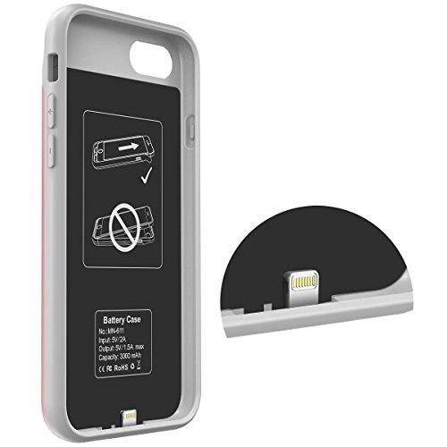 Carcasa de batería iPhone 8, i-Blason Carcasa de batería de protección externa para iPhone 8/ para iPhone 8 Cargador de batería [Ultra Slim] (Compatible con ...