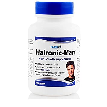 Amazon Com Healthvit Haironic Man Hair Growth Supplement 60 Tablets