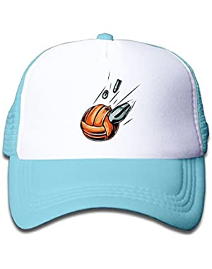 Flying Volleyball Funny Kids Baseball Cap Cute Hat