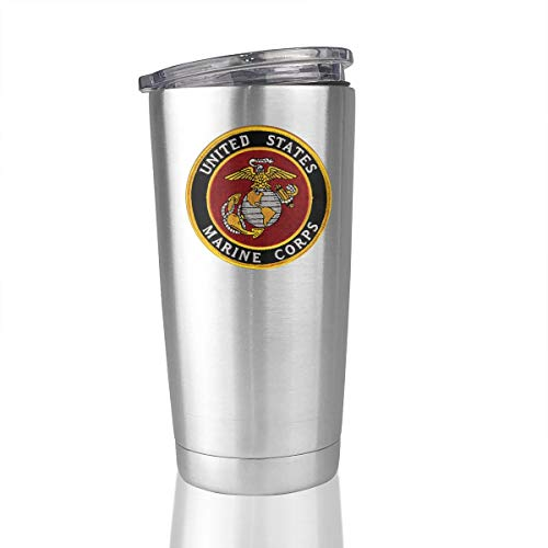 FOECBIR USMC-Eagle Globe and Anchor Vacuum Insulated 20oz Stainless Steel Tumbler Travel Mug Car Cup Coffee
