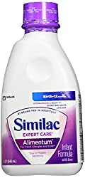 Similac Alimentum Hypoallergenic Formula with Iron, DHA/ARA, Ready to Feed, 1-Quart