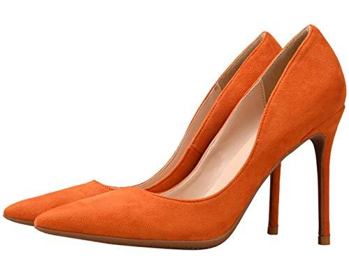 Oranssi Klassinen Liiketoiminta Teräväkärkiset Bigtree Pumput Mokka Korkokengät Naisten Mukavat Kengät Ja Luistaa WOP74q