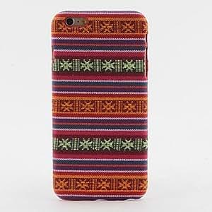 PG Orange Aztec Stripe Pattern Textile Hard Back Case for iPhone 6 Plus