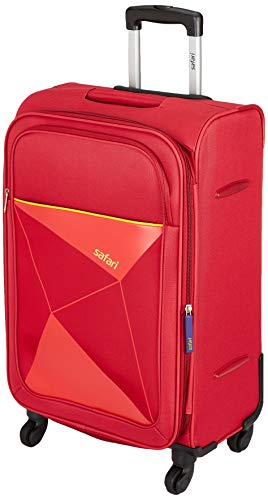 Safari Prisma 65 Cms Polyester Red Check-In 4 wheels Soft Suitcase – 25.6 Inches