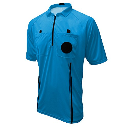 Winners Sportswear New USSF Pro Soccer Referee Jersey (Blue, Adult Large) (Velcro Pen)