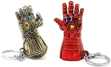 Infinity Gauntlet Thanos or IronMan Minnie Mouse Keychain Phone Grip Badge Reel