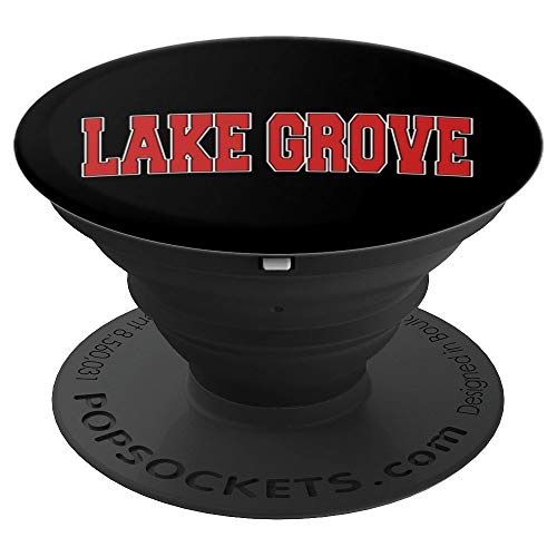 LAKE GROVE NY NEW YORK Varsity Style USA Vintage Sports PopSockets Grip and Stand for Phones and