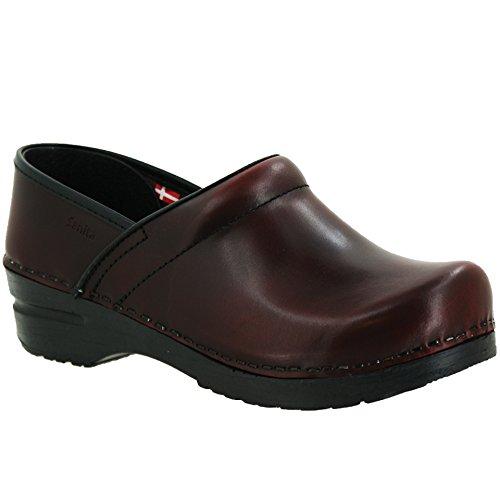 Sanita Men's Professional Cabrio Clogs, Red Leather, 41 M EU, 7.5-8 M