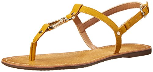 Tommy Hilfiger Women's Leni Dress Sandal, Yellow, 8 M US
