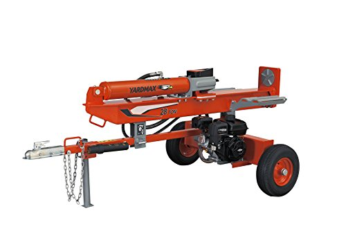 YARDMAX YU2866 28 Ton Full Beam Gas Log Splitter, 4-Way Wedge, Briggs & Stratton, CR950, 6.5HP, 208cc