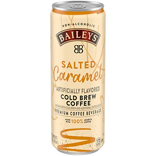 Baileys Non-Alcoholic Salted Caramel Flavored Cold Brew Coffee, 11 fl oz Can (Pack of 12)