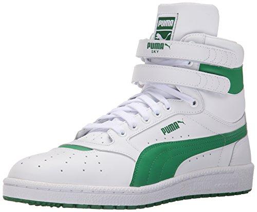 PUMA Men's Sky ii hi fg Basketball Shoe White/High Risk, 8 M US