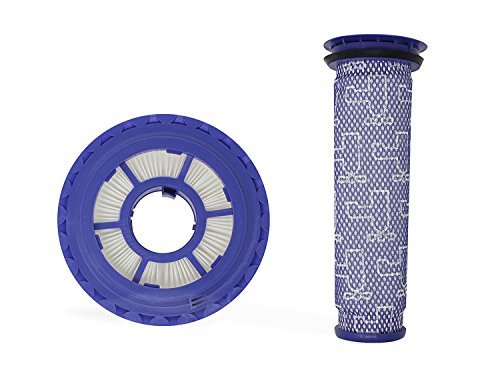 Durabasics Compatible Vacuum Pre Filter & Post Filter Combo Set, Compatible with Dyson DC41, DC65, DC66 HEPA, Animal, Ball, and Multi Floor Vacuum Models, Parts #920640-01 & 920769-01