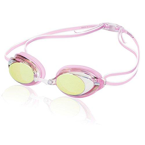 Speedo Women's Vanquisher 2.0 Mirrored Swim Goggles, Panoramic, Anti-Glare, Anti-Fog with UV Protection, Pink, 1SZ