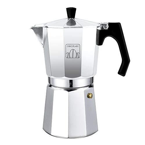 Cecotec cafetera Italiana MokClassic 300 Shiny. Fabricada en Aluminio Fundido Hacer café con el Mejor Cuerpo y Aroma…