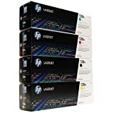 HP Genuine Hp Ce320A, Ce321A, Ce322A, Ce323A 128A Toner Set Bcym Lj Hp Pro Cm1415 ,Pro Cp1525Nw Sealed In Retail Packaging, Office Central