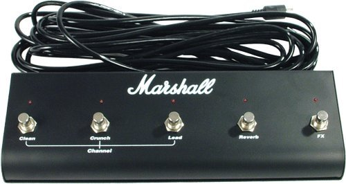 Marshall 5 Button Footswitch (Original Marshall Footswitch, Five Button With LED (Clean, Crunch, Lead, Reverb,)