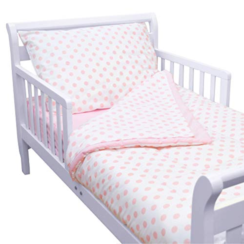 (American Baby Company 100% Cotton Percale 4-Piece Toddler Bedding Set, Pink, for Girls)