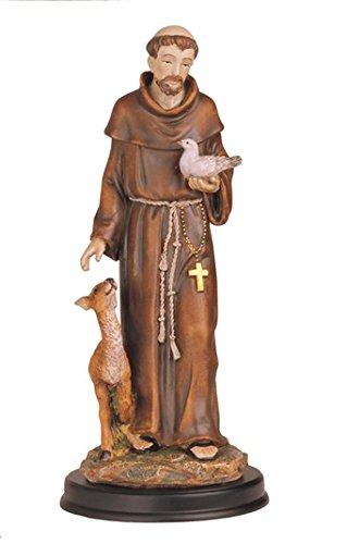 Statue 12 Inch St Saint Francis of Assisi Estatua San Francisco de Asis Isis
