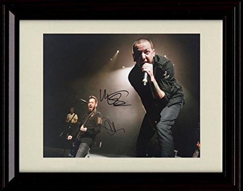 Framed Chester Bennington and Mike Shinoda Autograph Replica Print - Linkin Park
