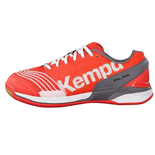 Kempa STATEMENT ATTACK PRO Unisex-Erwachsene Handballschuhe fire red/grau/weiß