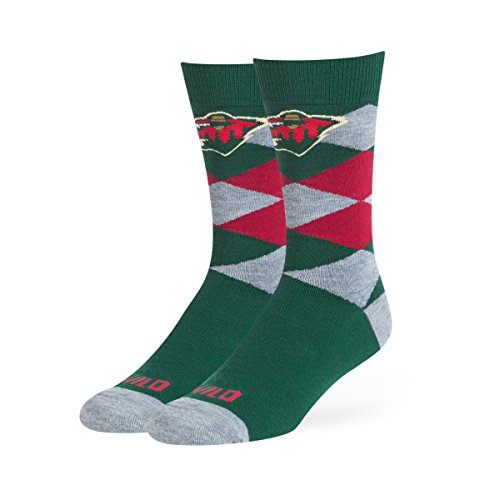 NHL Minnesota Wild OTS Blaine Dress Sock, Dark Green, Large ()