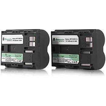 Powerextra 2 Pack Replacement Canon BP-511 Battery for Canon BP-511A and Canon EOS 5D, 50D, 40D, 20D, 30D, 10D, Digital Rebel 1D, D60, 300D, D30, Kiss Powershot G5, Pro 1, G2, G3, G6, G1, Pro90